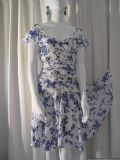 1980's Cornflower print rayon vintage dress Wallis **SOLD**